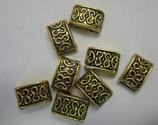 8 Pieces of New 2 Strand Metal Slider Spacers 12x7mm Spacer Gold Tone Bead JF310