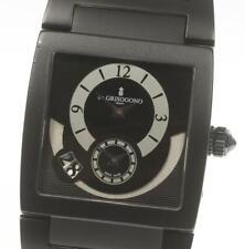 de GRISOGONO UNO Black Dial Automatic Leather Men's_490121