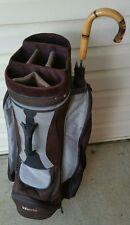 Golf Pak / GOLFPAK Cart Golf Bag ■ Black & Gray Bag ■ Umbrella Included