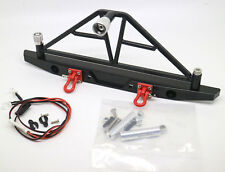 CNC Aluminum Rear Bumper w/ LED Light For Axial SCX10 Crawler 4WD Truck RC 1/10