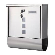 NEW OUTSIDE POST LETTER BOX WALL MOUNTED STEEL LARGE MAILBOXLOCKABLE POSTBOX