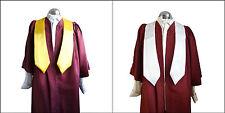 Coro Bata Vestido / Banda Estola Juego Burdeos Mujer / Hombre Sacerdote Iglesia
