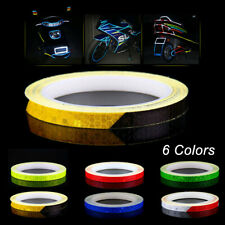 For Bike Car Motorcycle Wheel Reflective Sticker Rim Luminous Warning Decals 8m