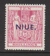 NIUE 1941-67 10/- PALE CARMINE-LAKE SG 81 MINT.