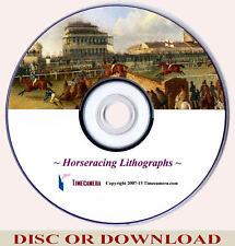 Print & Sell - ANTIQUE HORSE RACING ART PRINTS Vol.1 Images Set, Home Business