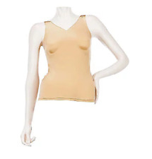 NWT KATHLEEN KIRKWOOD HEAVENLY TOUCH BUILT-UP TANK, NUDE, LARGE