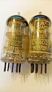 2 Mullard CV4024 ECC81 12AT7WA  test 100%  AVO tested  made 1963/64 type 652