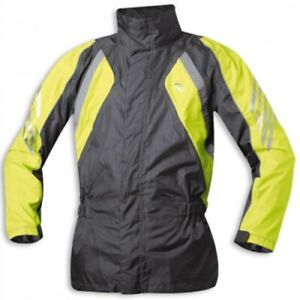 -HELD- Rano Motorcycle Rain Jacket with Integrated Helmet Hood And Storm Cuffs