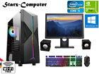 Gaming Pc Computer Bundle Intel Quad Core I5 8gb 1tb Win 10 2gb Gt 710