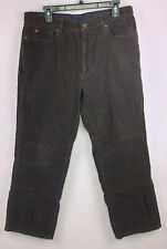 NEW - Calvin Klein Brown Corduroy Straight Leg Pants Men's 34x30. B53