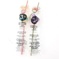 Vtg 1997 Taco Bell Eye Ball Silly Straws Lot Of 2 Mumps Lobes