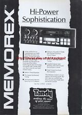 Tandy Memorex Car Stereo Radio 1988 Magazine Advert #2323