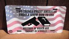 2 Things Every American 2nd Amendment Guns Novelty License Plate Bar Wall Decor
