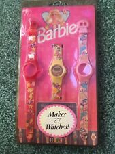 1995 Barbie Fashion Digital Multi-Function Watch Changeable Face Wristband