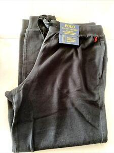 NEW Polo Ralph Lauren Men X-LARGE Black Classic Jogger Pant Sweatpants
