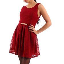 Markenlose Ärmellose Damenkleider mit Rundhals-Ausschnitt ohne Muster