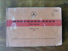 Mercedes - Benz Type 220 Sb 1963 Parts Catalogue