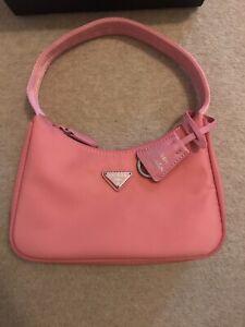 Prada Re-Edition 2000 Nylon Mini Bag Pink, Excellent Condition, 100% Genuine