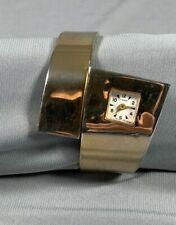Vtg Cimier Bracelet Watch Hinged Cuff Clamper Swiss