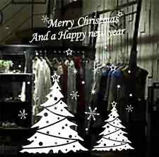 Merry Christmas Happy New Year Snowflake window Decal wall stickers UK SH06