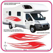 CAMPER GRAFICA in vinile adesivi decalcomanie RV Caravan Box per cavalli MH1C