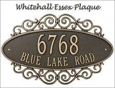Whitehall Essex Fretwork Address Marker Personalized Plaque 2 Mounts & 5 Colors