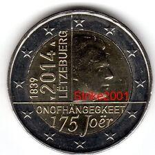 2 EURO COMMEMORATIVO LUSSEMBURGO 2014 - 175° Anniversario