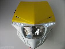 Ufo Yellow Road Legal Headlight Enduro Streetfighter Suzuki Rm Rmz Drz Dr Gsxr