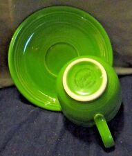 Homer Laughlin Co. Fiesta Ware 1950's Green Cup and Saucer :Estate sell Treasure