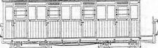 More details for oo9 / hoe festiniog style 4 compartment bogie coach - dundas dm61