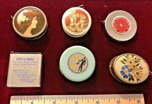 Vintage advertising tape measures - lot of 6