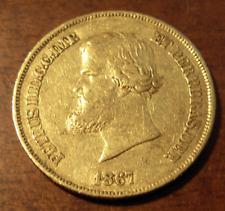 Brazil 1867 Gold 10000 Reis XF Pedro II