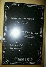 """NEW Wall Pops Bistro Notes Black Dry Erase Message Board Peel n Stick 26""""X39"""""""