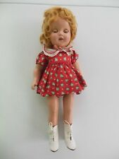 """VINTAGE 1930s SHIRLEY TEMPLE COMPOSITION DOLL 15"""""""