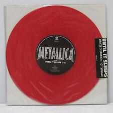 """METALLICA - UNTIL IT SLEEPS 10"""" EP 1996 RED COLOR VINYL SEALED MOTORHEAD LP"""