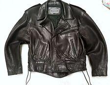 Vintage North Beach Leather Black Motorcycle jacket Sz medium 40