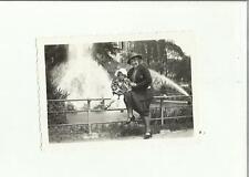 136994 FOTOGRAFIA FOTO ORIGINALE  bambina a lugano la fontana 1932