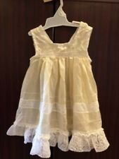 Pretty Vintage Ivory With Lace Doll Dress - Germany