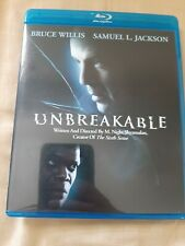 Unbreakable (Blu-ray) M Night Shyamalan Like New Bruce Willis Samuel L Jackson