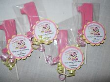 50 Disney Baby Minnie Mouse Gourmet 1st Birthday Party Favors and custom tags