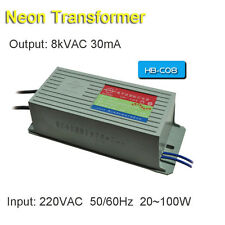 Neon Transformer 8KV30mA100W 8Meter Power Supply Ballast High Voltage Fire Maker
