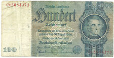 WW2 ORIGINAL NAZI Germany Third Reichs Banknote 100 Reichsmark 1935/O