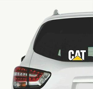 2x CAT CATERPILLAR Sticker Decal for Ranger Navara Dmax Triton Hilux Ute 4x4