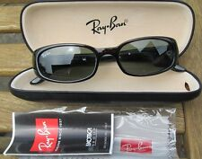 Vintage Rayban sunglassesrb 2129937 redstriated Marco Negro Rojo Rubí Free UK Post