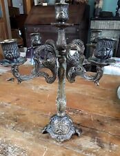 Antique ORNATE BRASS CANDELABRA 5 Candle 4 arms