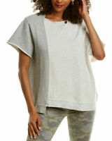 Hudson Womens Top Heather Gray Size XS Colorblock Asymmetric Tunic $135 309