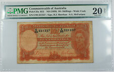 ND 1939 Commonwealth of Australia 10/- Shilling Note Pick# 25a PMG VF 20 Stained
