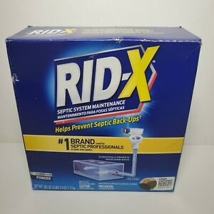 RID-X Septic Tank Treatment Drain Opener 4 Month Supply of Powder 39.2oz Enzymes