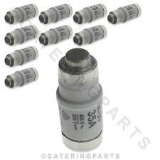 CONFEZIONE 10 x Fusible LINK/Ceramica Bottiglia FUSIBILI TIPO D02 35A E18