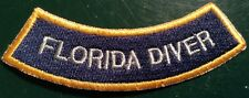 "Florida DIVER rocker chevron SCUBA DIVING CERTIFICATION PATCH  3.5"" Gator"
